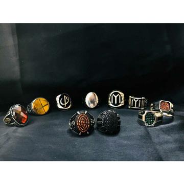 92.5 Sterling Silver Rajwadi Ring Ms-3901
