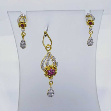 840 Gold Fancy Lite Weight Pendant Set RJ-PS001 by