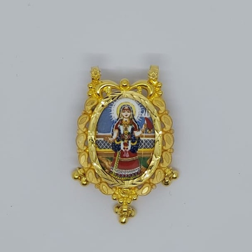 916 Gold Khodiyar Maa Photo Frame Pendant