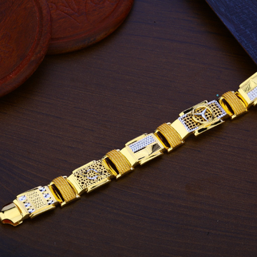 Mens Gold Mercedes Bracelet-MPB119