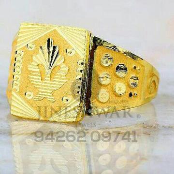 Fancy Gold Plain Gents Ring