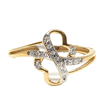 18k gold real diamond ring mga - rdr0049