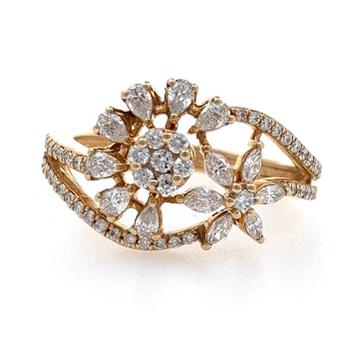 18kt / 750 rose gold anniversary gift diamond ring 8lr211
