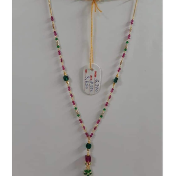 916 GOLD COLORFULL STONE MALA by