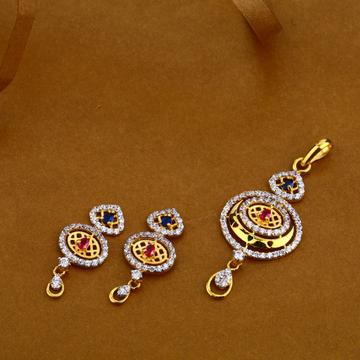 916 Gold Fancy  Ladies Pendant Set FPS13