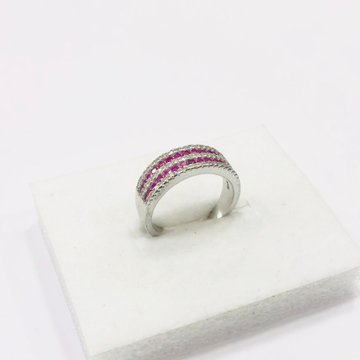 925 sterling silver pink diamonds Ring for women