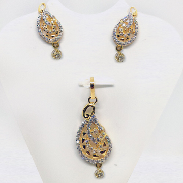 22KT Gold CZ Pendant Set SK-PS005 by