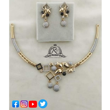 22 carat gold traditional necklace set rh-ns371