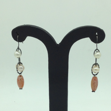 Pearl and Agate SilverEar HangingsJER0107