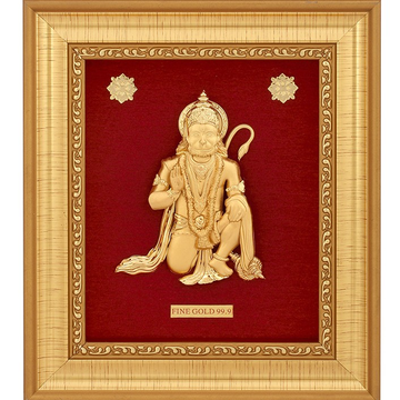 999 GOLD HANUMANJI FRAME by