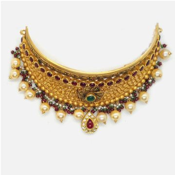 916 Gold Antique Bridal Choker Set RHJ-4109