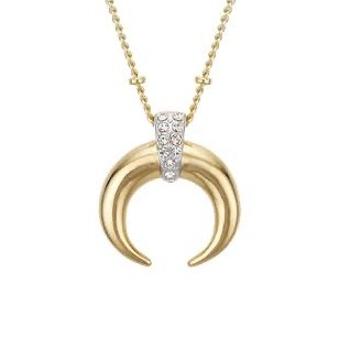 18kt, Rose gold horseshoe Like Design Pendant Jkp0159.
