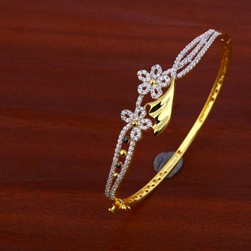 750 Gold cz Fancy Bracelet Kada LKB73