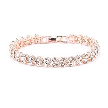Diamond bracelet with 18kt gold for women jkb029