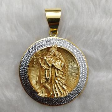 Antique Radhakrishnan 916 Gold Gent's pendant