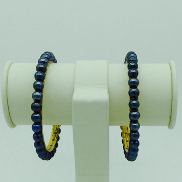 Black round pearls bangles jbg0092