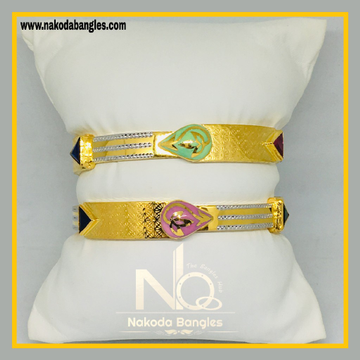 916 Gold Stone Fancy Bangles NB - 539