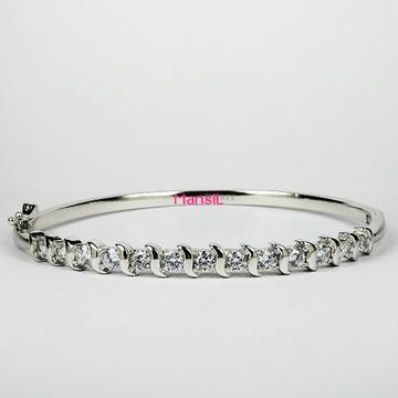 92.5 sterling silver cz stone kada bracelet ML-75