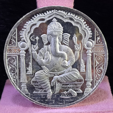 999 silver fifty gram ganpati silver coin