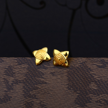 Ladies 916 Gold Casting Cz Earring -LPE98