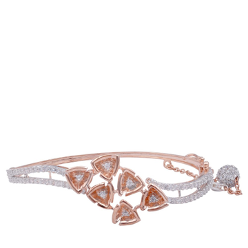18k rose gold cz diamond  ladies bracelet
