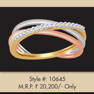 18K Rose Gold Designer Ring For women MJ-R003 by