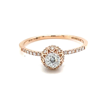 Criss Cross Vase Design ring in 18k Rose Gold - 0L...
