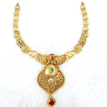 916 Gold Antique Necklace Set MGA - GN022