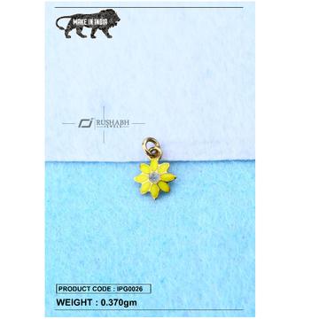 18 carat gold Kids pendent yellow flower ipg0026