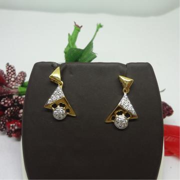 916 GOLD CZ DIAMOND EARRINGS by