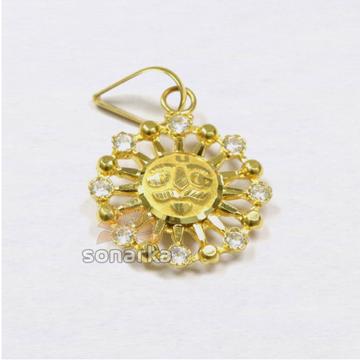 AD 916 Plain Gold Sun Surya Pendant