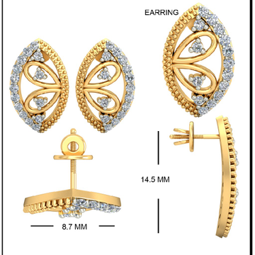 22kt Yellow Gold Eascape Earrings For Women