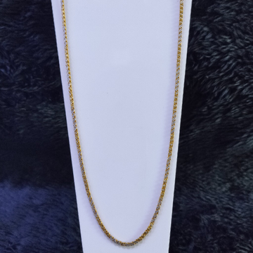 22KT/916 Yellow Gold Belcher Rodiyam Chain For Unisex