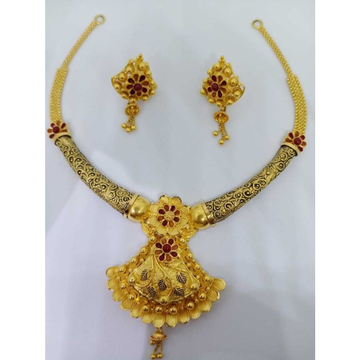 916 gold fancy necklace set bj-n13 by