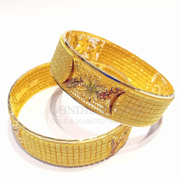 18kt gold bangle gbg64
