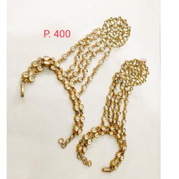 Bridal Gold plated Kundan Hath Phool Hand Ring Bracelet 1365