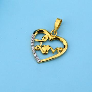 916 Gold Cz Hallmark Fancy Pendant LFP33