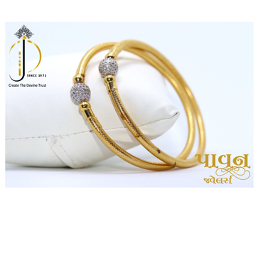 22KT / 916 Gold Single Boll Plain Bangles For Ladi... by