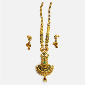 916 Gold Antique Bridal Long Necklace Set RHJ-4991