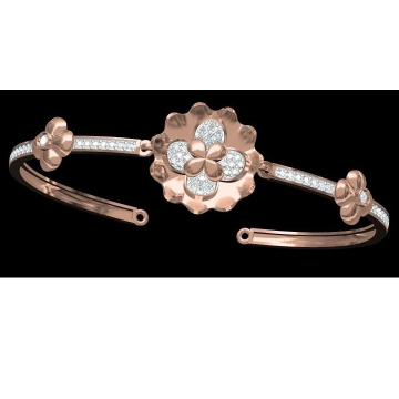 18kt cz rose gold ladies kada