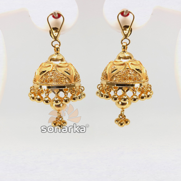 Gold Detachable Earring Jhumka SK - E015