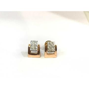 18k Ladies Fancy Rose Gold Earring E-60529