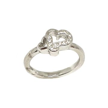 925 Sterling Silver Heart Shape Ring MGA - LRS3393