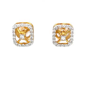 Delicata diamond earrings with princess cut diamond 8top115