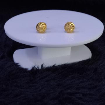 22KT/916 Yellow Gold Heily Stud Earrings For Women