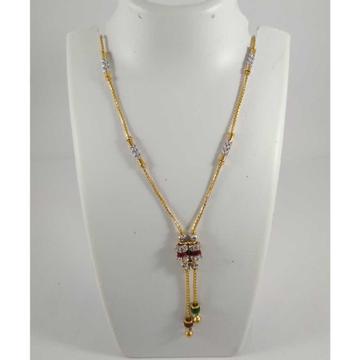 22 K Gold Fancy Pendant Chain NJ-P0109
