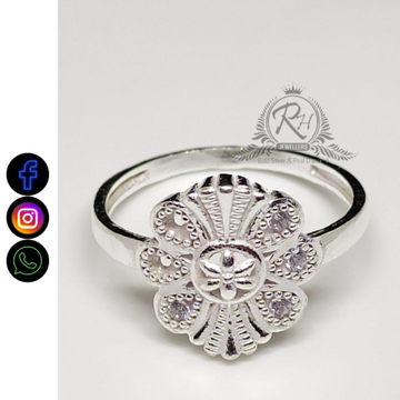 silver sterling flower ladies rings RH-LR409