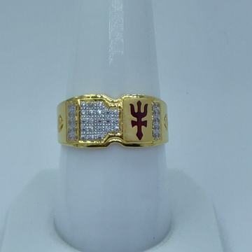 cz gold 916 HM fancy gents ring by Shree Sumangal Jewellers