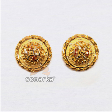 916 Plain Gold Attractive Ladies Earrings