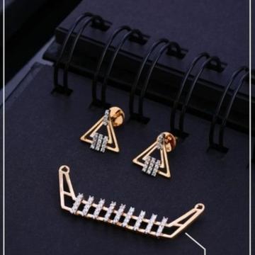 18 carat rose gold classical ladies pendants set RH-PS456